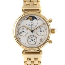 IWC Da Vinci Chronograph occasion 28.5mm Blanc Phase lunaire Chronographe Date Or jaune