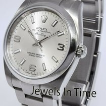 Rolex Air King Acero 34mm Plata Sin cifras