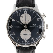 IWC Portuguese Chronograph Steel 40.5mm Black
