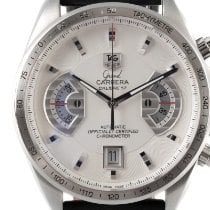 TAG Heuer Grand Carrera Stahl 43mm Silber