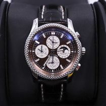 Breitling Platinum Automatic Brown No numerals 42mm pre-owned Bentley Mark VI