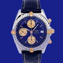 Breitling Chronomat Золото/Cталь 39mm Синий Без цифр