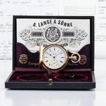 A. Lange & Söhne Gelbgold Handaufzug Weiß Römisch 50,5mm neu