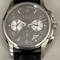 Hamilton Jazzmaster Auto Chrono pre-owned 42mm Grey Chronograph Tachymeter Leather