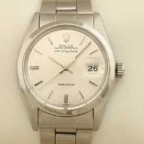 Rolex Air King Date Acero 34mm Plata Sin cifras