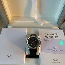 IWC Portugieser Yacht Club Chronograph Stahl Schwarz Arabisch