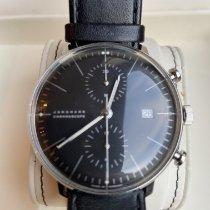 Junghans max bill Chronoscope occasion 40mm Noir Chronographe Date Cuir