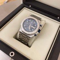 Audemars Piguet Royal Oak Offshore Chronograph gebraucht 42mm Blau Chronograph Datum Tachymeter Stahl