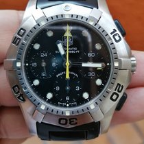 TAG Heuer Steel Automatic Black No numerals 42mm pre-owned Aquagraph