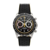 Bell & Ross BR V2 pre-owned 41mm Black Chronograph Date Tachymeter Leather