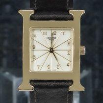 Hermès Heure H Żółte złoto 30mm Srebrny Arabskie