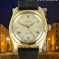 Rolex Bubble Back Žluté zlato 32mm Stříbrná