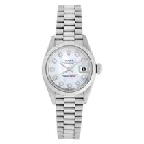 Rolex Platinum Automatic Mother of pearl No numerals 26mm pre-owned Datejust