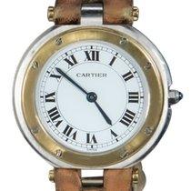 Cartier Santos (submodel) Золото/Cталь 32mm Белый Римские