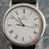 Omega De Ville occasion 32mm Blanc Date Cuir