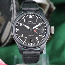 IWC Big Pilot Top Gun подержанные 48mm Черный Ткань