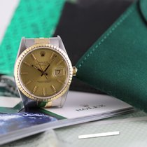 Rolex Oyster Perpetual Date Or/Acier 34mm Champagne Sans chiffres France, Cannes