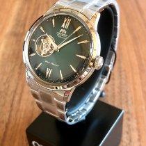 Orient Bambino Steel 40,5mm Green Roman numerals