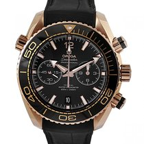 Omega Or rose Remontage automatique Noir Arabes 45.5mm occasion Seamaster Planet Ocean Chronograph