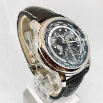Frederique Constant Manufacture Worldtimer Steel 42mm Grey No numerals United States of America, New York, NY