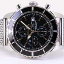 Breitling Superocean Heritage Chronograph Steel 46mm Black No numerals