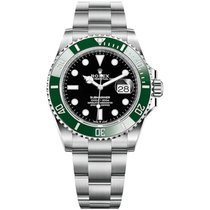 Rolex Submariner Date Steel 41mm Black No numerals