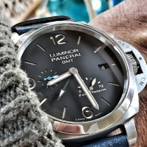 Panerai Luminor 1950 3 Days GMT Power Reserve Automatic Steel 44mm Black Arabic numerals United States of America, Illinois, Plainfield