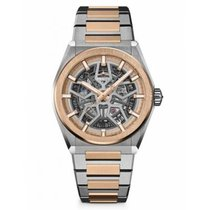 Zenith Defy Rose gold 41mm Silver No numerals