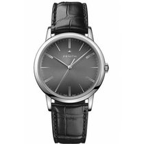 Zenith Elite Steel 39mm Black No numerals