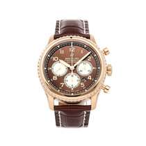 Breitling Navitimer 8 pre-owned 43mm Bronze Chronograph Date Crocodile skin