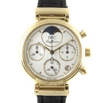 IWC Da Vinci Chronograph 3736 Meget god Gult guld 29mm Kvarts