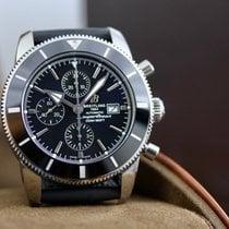 Breitling Superocean Heritage II Chronographe occasion 46mm Noir Chronographe Date Caoutchouc