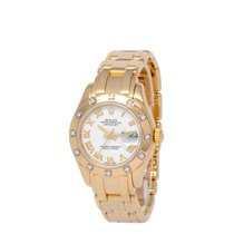 Rolex Lady-Datejust Pearlmaster Yellow gold 28mm White Roman numerals United States of America, New York, Hartsdale