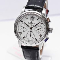 Glashütte Original Senator Chronograph Steel 39mm White No numerals