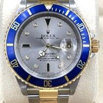 Rolex Submariner Date Gold/Steel 40mm Silver