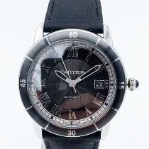Cartier Ronde Croisière de Cartier occasion 42mm Gris Date Textile
