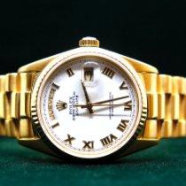 Rolex Day-Date 36 usados 36mm Blanco Fecha Oro amarillo