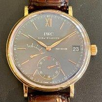 IWC Portofino Hand-Wound Pозовое золото 45mm Cерый