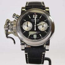 Graham Chronofighter R.A.C. pre-owned 43mm Black Year Buckle