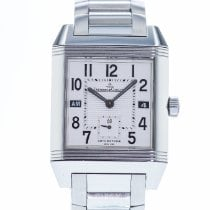 Jaeger-LeCoultre Reverso Squadra Hometime pre-owned 35mm Silver Steel