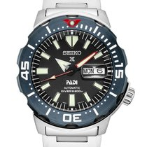 Seiko Prospex Steel Black No numerals