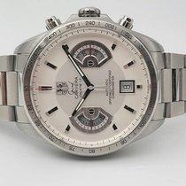 TAG Heuer Grand Carrera Steel 43mm Silver No numerals Finland, Raisio