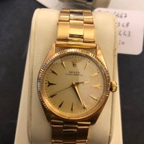 Rolex Oyster Perpetual Rose gold 34mm Champagne No numerals