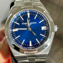 Vacheron Constantin Overseas pre-owned 41mm Blue Date Steel