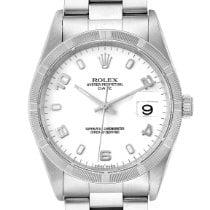 Rolex Oyster Perpetual Date Сталь 34mm Белый Aрабские