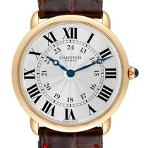 Cartier Yellow gold Manual winding Silver Roman numerals 33mm pre-owned Ronde Louis Cartier