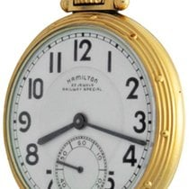 Hamilton Watch pre-owned Yellow gold Arabic numerals Manual winding Watch only