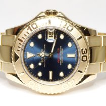 Rolex Yacht-Master pre-owned 35mm Blue Date Yellow gold