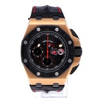 Audemars Piguet Red gold Automatic Black 44mm pre-owned Royal Oak Offshore Chronograph