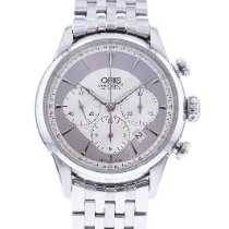 Oris Artelier Chronograph pre-owned 43.5mm Silver Chronograph Date Steel